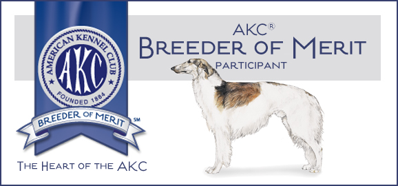 AKC Borzoi Breeder of Merit